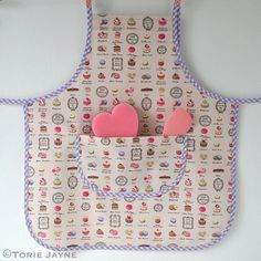 Girls apron sewing tutorial with free downloadable pattern                                                                                                                                                                                 More