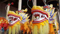 Disfraz que se lleva durante el Baile del Dragón, en China