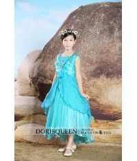 Pleated Beading Infloresnce flower girl dress H022