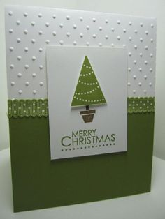 Goin' Over The Edge: Quick and easy Christmas card with Pennant Parade