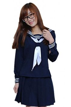 Anime Clothes Classic Navy Sailor Suit Long Sleeve Girl Students School Uniforms L TYC http://www.amazon.com/dp/B00LHQKN3A/ref=cm_sw_r_pi_dp_3HvJub1B26160