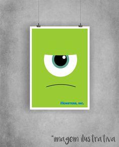 Poster Mike Wazowski - Monstros S.A.