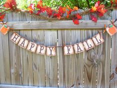 Primitive Fall Decor Burlap Banner Halloween by theartofhandmades