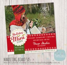 Christmas Photography Marketing Holiday Mini por PaperLarkDesigns