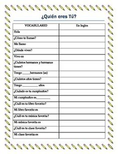 Language Teaching, French Classroom Ideas, Checklist Language, French ...