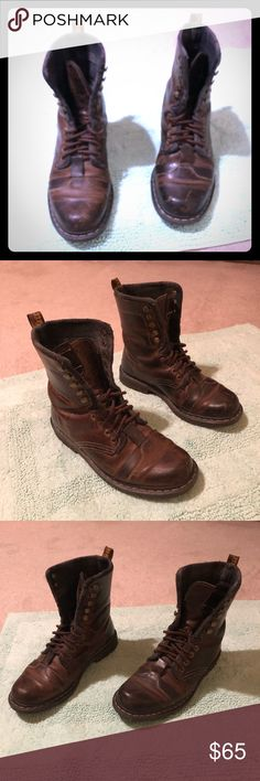 3240e9899b1 Martens Brown size 10 Shoes at a discounted price at Poshmark. Description:  Men's Dr. Martens brown Leather lace up boots.