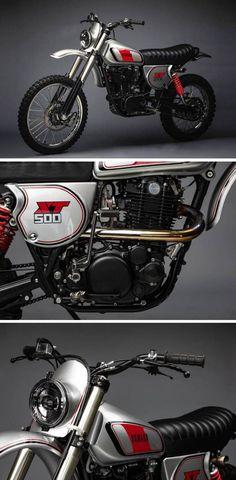 Yamaha Scrambler Mod of Tracker Motorcycle, Motorcycle Posters, Cafe Racer Motorcycle, Motorcycle Design, Bike Design, Blitz Motorcycles, Vintage Motorcycles, Custom Motorcycles, Custom Bikes