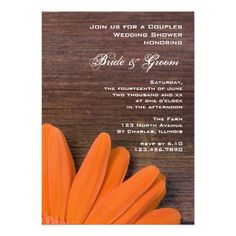 Rustic Orange Daisy Country Couples Wedding Shower