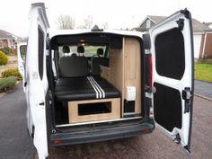 Vauxhall Vivaro converted into a campervan by Rock Salmon Vans in Dawlish Vauxhall Vivaro Camper, Converted Vans, Van Dwelling, Transit Custom, Custom Campers, Diy Camper, Camper Ideas, Camper Van Conversion Diy, Cargo Van