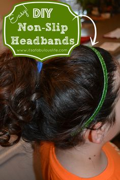 DIY Non-Slip Headbands  - Take only 5 minutes to make!! Perfect for yourself (did someone say workout headbands?!?), gifts, or craft shows! #DIY