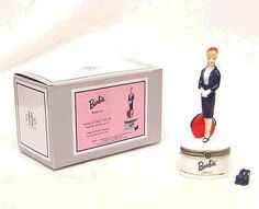 Barbie Commuter Porcelain Hinged Box Midwest NIB #Midwest