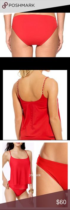 NWT Michael Kors Cami Tankini Bathing Suit Set Check out my website store listed in my profile.                                                    Built in shelf bra with removable soft pads.  Fully lined bikini bottoms.  Color. Red SZ. Large  Retail. $150.00 Brand new with tags. Michael Kors Swim Bikinis