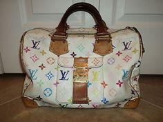 Louis Vuitton White Multi Color Speedy 30 Murakami Doctor Bag