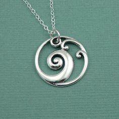 wave-necklace-sterling-silver-surfer at Zen Muse online