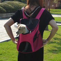 2017 Pet chest bag portable comfortable pet Bag Cat Dog travel bag small pet backpack out breathable warm Backpack Dog Backpack, Travel Backpack, Designer Dog Carriers, Pet Carrier Bag, Puppy Palace, Pet Bag, Dog Travel, Airline Travel, Shoulder Backpack
