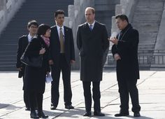 Prince William, Duke of Cambridge is accompanied by a museum officer during a visit to the Forbidden City on March 2, 2015 in Beijing, China. The Duke of Cambridge is on a four day visit to China. The Duke of Cambridge is the most senior royal to visit China since the Queen and Duke of Edinburgh in 1986. His visit follows on from a successful four day visit to Japan