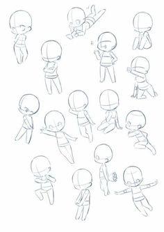 Imma chibi person <<< same.you might see a lot of chibi on this board Art Drawings Sketches, Kawaii Drawings, Cartoon Drawings, Cute Drawings, Art Sketches, Cartoon Drawing Tutorial, Body Drawing, Drawing Base, Manga Drawing