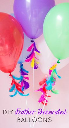 The perfectly pretty combo - balloons and feathers!