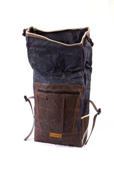 Convertible Backpack Pannier waxed canvas by anhaicabagworks