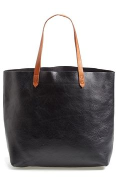 Free shipping and returns on Madewell 'The Transport' Leather Tote at Nordstrom.com. An all-purpose tote fashioned from sleek genuine leather boasts a voluminous storage compartment and sturdy straps that rest comfortably on your shoulder. This style is available in inky black or rugged brown.