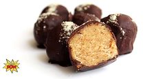 ALMOND BIRTHDAY CAKE PROTEIN TRUFFLES Ingredients 1/4 cup Dymatize ISO-100 Birthday Cake 1/4 cup almond milk 1/2 cup ground almonds 2 tbsp coconut flour 1-2 tbsp almond butter 3 squares (30g) dark chocolate  Cover truffles in melted chocolate, and refrigerate for 1-2 hours.