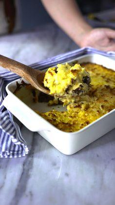 Saia da rotina e prepare esse escondidinho de pamonha com carne seca no seu próximo almoço em família!