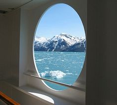 A stateroom view like this is why room service was invented. (photo by Gary Schmidt) #Alaska