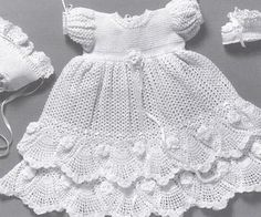 Crochet Pattern for a Beautiful Christening Dress