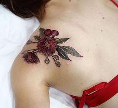 coolTop Body - Tattoo's - My absolute favourite tattoo ❤️ Pretty Tattoos, Beautiful Tattoos, Body Tattoos, New Tattoos, Henn Kim, Arm Tats, Worlds Best Tattoos, Botanical Tattoo, Tattoo Magazines