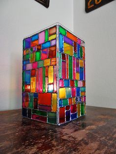 Faux Stained Glass Mosaic Luminary by @Amanda Formaro - Crafts by Amanda
