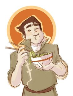 there are so many pages of references of his adorable face, I had to draw him chipmunk-cheeking his noodles. Korra Avatar, Team Avatar, Zuko, Bolin Legend Of Korra, Avatar Cartoon, Cartoon Art, Avatar World, Avatar Series, Korrasami