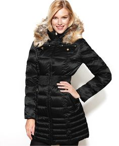 Laundry by Shelli Segal Faux-Fur-Trim Hooded Down Puffer Coat  $275.00 $124.99