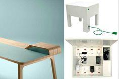 | Pasacables para escritorio: cómo ocultar el antiestético cableado - Getting Organized, Home Office, Loft, Cabinet, Storage, Table, Furniture, Home Decor, Fiber