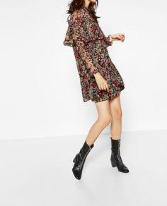 Imagine 5 din ROCHIE CU IMPRIMEU FLORAL de pe Zara