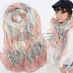 Wool Scarves-Ladies Bali yarn scarves in autumn and winter