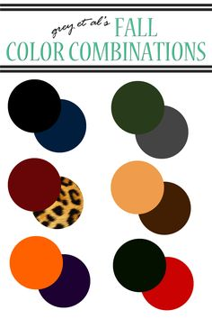 color combinations :: fall. fall color combinations. fall outfit color combinations.