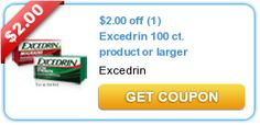Printable Coupon: $2/1 Excedrin (  CVS Deal)