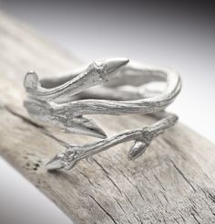 Elvish Twine ring sterling silver twig ring  stacking by redsofa