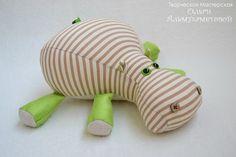 Patrones para hacer un peluche de hipopótamo de tela (1)