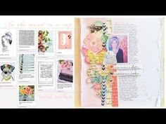 In the Mood to Scrap : Text and Typewriters with Wilna Furstenberg (Two Peas in a Bucket) Nice journaling heavy layout.