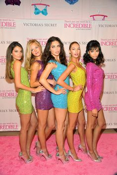Candice Swanepoel with Lily Aldridge, Erin Heatherton, Adriana Lima, and Chanel Iman for Victoria's Secret