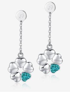 #orecchini #Fiore #Amore con #cristalli verdi, 42 euro collezione #LucaBarra