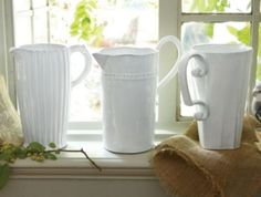 Provencal Pitcher Collection - Clay Pitcher, Flower Pitcher, Decorative Pitcher | Soft Surroundings