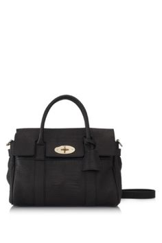 Mulberry Small Bayswater Satchel Colour  Black (Designer Colour) Material   Mini Croc Print Leather fac1b3b7f0520