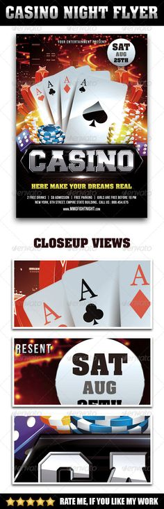 casino night flyer photoshop psd slot casino poster available here https