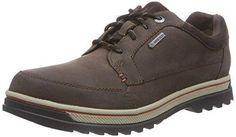 Dockers 23DA005 - Zapatos de Cordones de Cuero para Hombre, Color Marrón (Desert 460), Talla 45