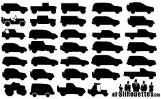 34 Off-Road Cars Silhouettes
