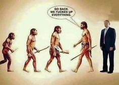 The evolution of politics...Rethuglicans are the Neanderthals of the modern age.