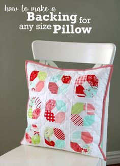Easy Trick: Make a Back for Any Pillow Size - Diary of a Quilter - a quilt blog