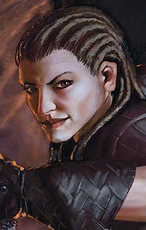 female dwarf fantasy portrait